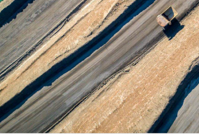 Monitoring jalan tambang dengan drone